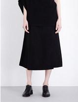 Y's YS Wrap wool-blend midi skirt