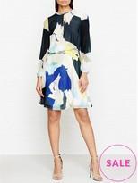 Reiss Neave Long Sleeve Printed Dress