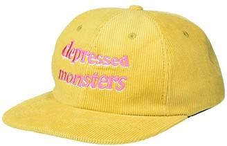 Depressed Monsters Wavy Corduroy Hat (Yellow) Caps