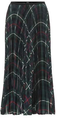 Polo Ralph Lauren Checked pleated midi skirt