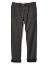 Gap Flannel-lined khakis