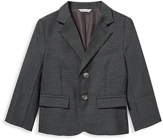 Janie and Jack Baby's, Little Boy's & Boy's Wool Herringbone Blazer Jacket