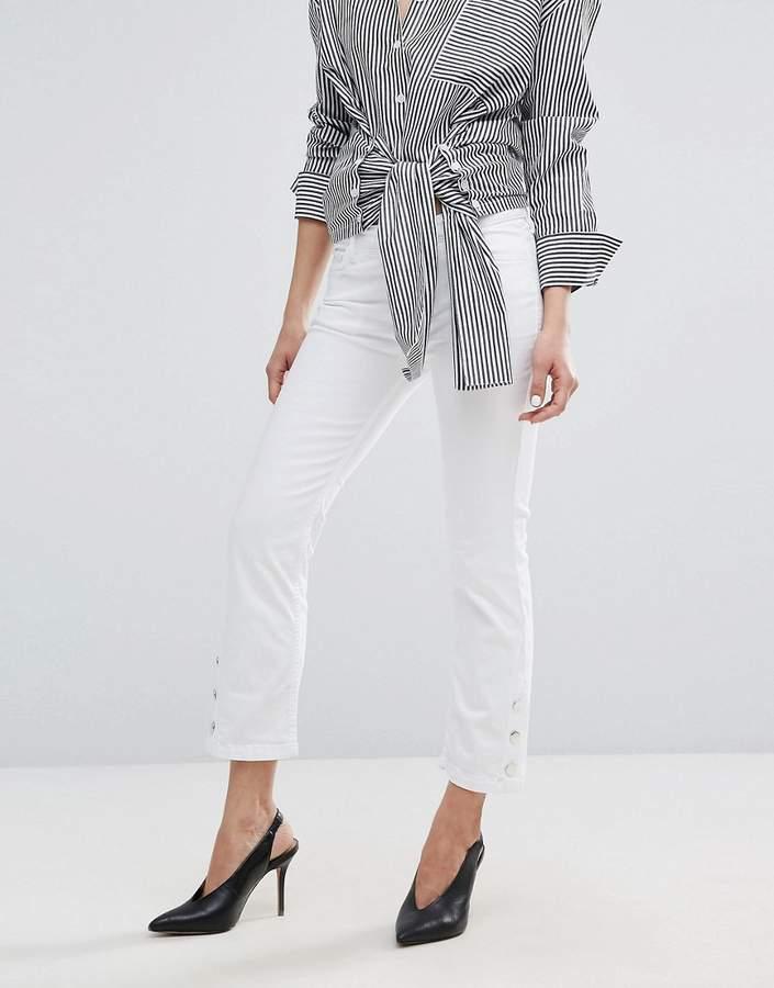 MANGO Button Detail Jeans