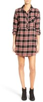 Volcom Women's 'Cozy Day' Plaid Flannel Shirtdress