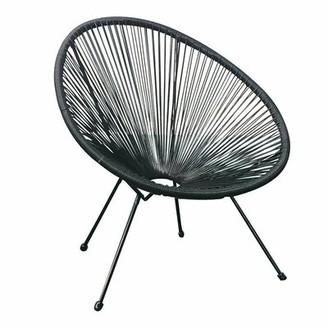 Bronx Bovina Oval Patio Chair Ivy Color: Black