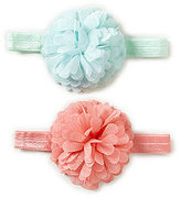 Starting Out Baby Girls 2-Pack Silk Chiffon Flower Headbands