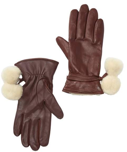 70b990665ae Brita Smart Gloves with Genuine Shearling Pompoms