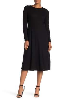 MSK Rib Knit Midi Dress