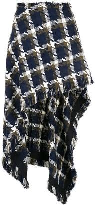 Monse Tweed Asymmetrical Skirt