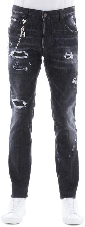 DSQUARED2 Black Cotton Skater Pants