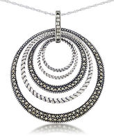 Lord & Taylor Multi Circle Pendant Necklace