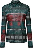 Issey Miyake tribal top - women - Nylon - 2