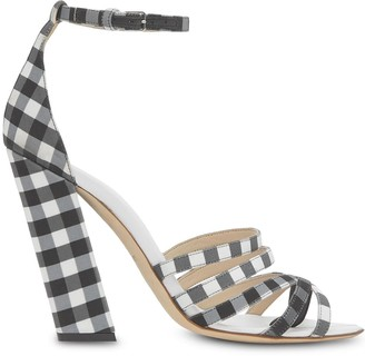Burberry Split-Toe Gingham Sandals