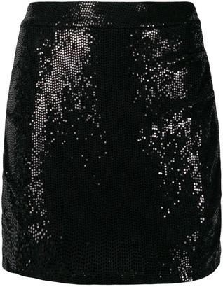 Marcelo Burlon County of Milan Sequin-Embellished Short Skirt