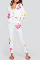 Wildfox Couture Floral White Hoodie