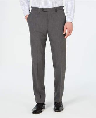 Chaps Men Classic-Fit Stretch Wrinkle-Resistant Gray Sharkskin Suit Pants