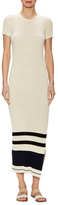 James Perse Cotton Ribbed Sweater Sheath Dress