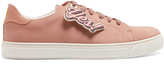 Anya Hindmarch Wink low-top brushed-leather trainers
