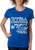 Allntrends Women's T Shirt Drunk Christmas Ugly Sweatshirt Merry Holiday (XL, )