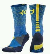 Nike Men's Hyper Elite KD Basketball Crew Socks (Size 6-8) Blue, Yellow