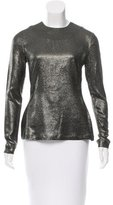 Zimmermann Silk-Blend Karmic Metallic Top w/ Tags