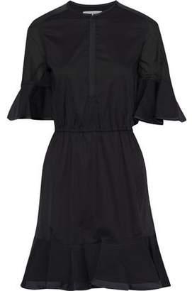 Rebecca Minkoff Frankie Satin-trimmed Cotton-broadcloth Mini Dress
