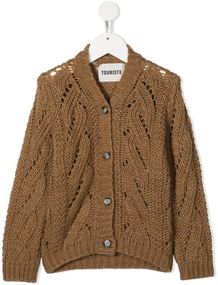 Touriste Trucco cable-knit cardigan
