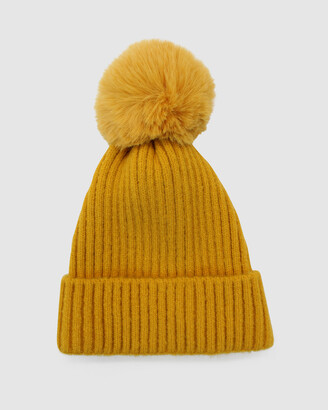 Morgan & Taylor Women's Yellow Beanies - Lula Beanie - Size One Size at The Iconic