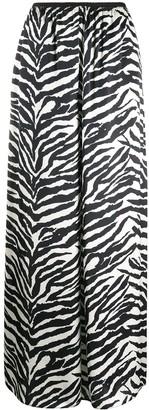 MM6 MAISON MARGIELA Zebra Print Wide-Leg Trousers
