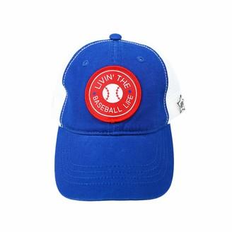 Pavilion Gift Company Livin Life-Blue Unisex Adjustable Snapback Mesh Baseball Hat