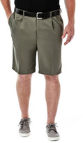 Haggar BIG & TALL Cool 18 Shorts - Classic Fit, Pleated Front, Expandable Waist