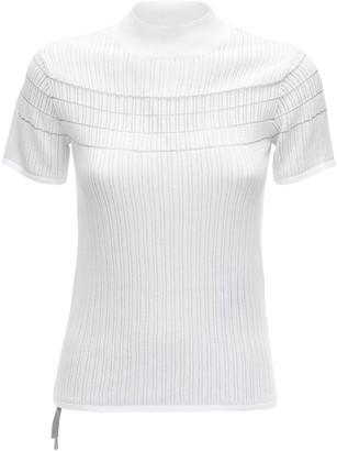 Falke Cotton Blend Rib Knit T-Shirt