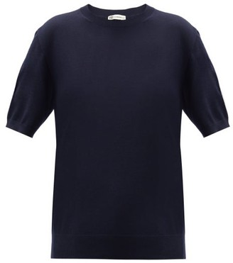 Connolly - Cashmere-blend Short-sleeved Sweater - Navy
