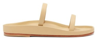LAUREN MANOOGIAN Line Chamois-faced Cork Sandals - Cream