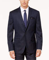Bar III Men's Slim-Fit Active Stretch Navy/Tan Windowpane Suit Jacket, Created for Macy's