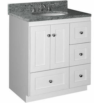 "Millwood Pines Lysette 30"" Vanity Base Only Base Finish: Satin white"