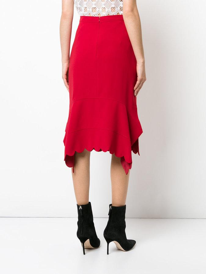 Altuzarra scallop trim skirt