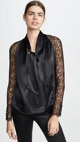 Jonathan Simkhai Silk Lace Wrap Top