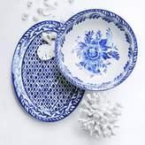 AERIN Sea Blue Geometric Platter