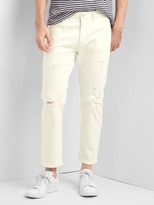 Gap Destructed slim fit wader jeans (stretch)