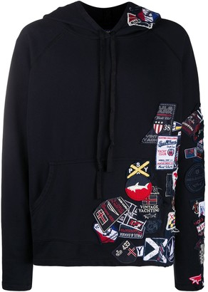 Greg Lauren X Paul & Shark Embroidered Long-Sleeved Hoodie