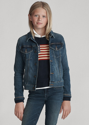 Ralph Lauren Girls' Denim Trucker Jacket