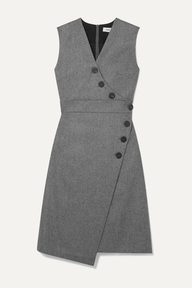 Cefinn - Blake Wrap-effect Wool-blend Dress - Gray