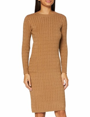 APART Fashion Women's Knitted Cabel Dress Casual