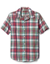 Gap Plaid madras short sleeve shirt