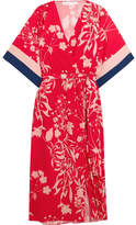 Borgo De Nor Raquel Floral-print Crepe De Chine Midi Dress