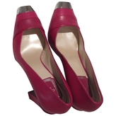 Christian Dior Pink Leather Heels
