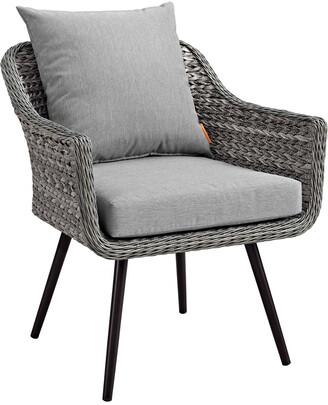 Modway Outdoor Endeavor Outdoor Patio Wicker Rattan Armchair