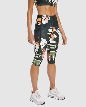 Rockwear - Women's Multi Tights - Autumn Haze Print 3-4 Tights - Size One Size, 14 at The Iconic