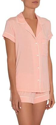 Eberjey Gisele - Basics Short PJ Set (Sorbet/Black) Women's Pajama Sets